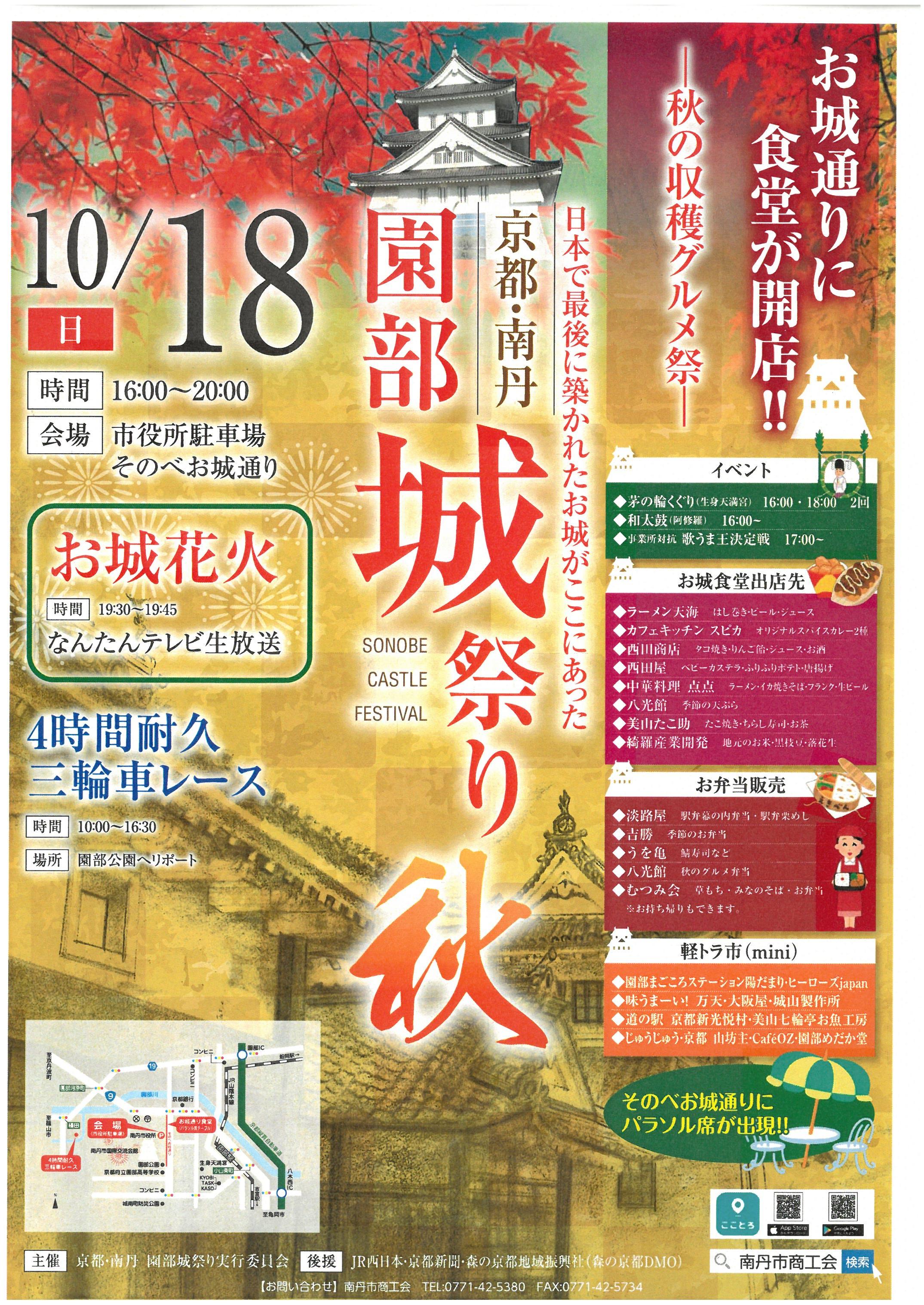 園部城祭り秋